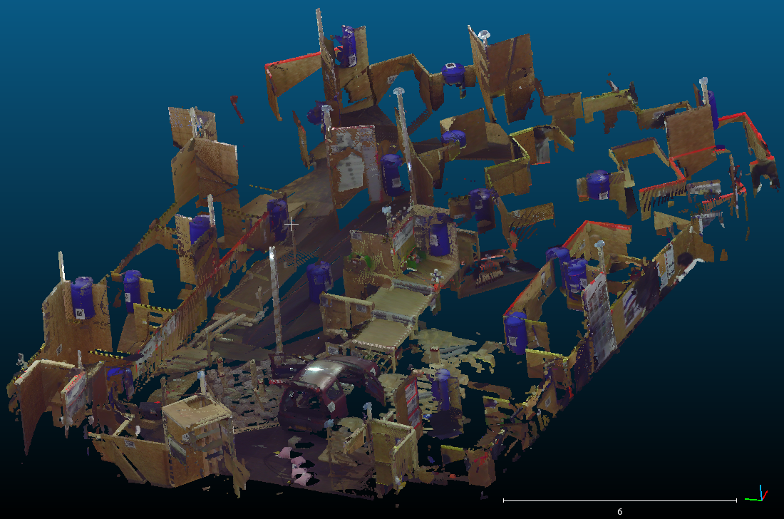 ScreenShot of the 3D Ground Truth map of the RoboCup Rescue 2013 arena